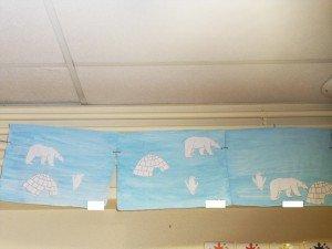 SDC18373n2-300x225 classe projet peinture pôle nord dans à l'école